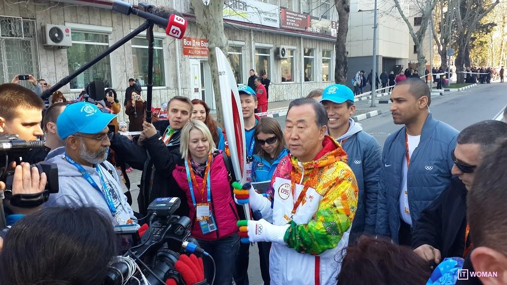 Олимпийский Огонь в Сочи!