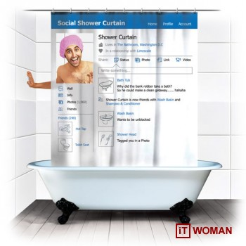 Facebook прямо в ванной комнате