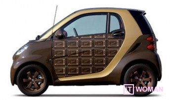 Шоколадное авто Smart на двоих ко Дню Влюбленных