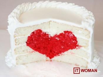 Торт с сердцем внутри!