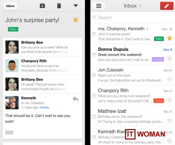 Вышла вторая версия Gmail для iOS