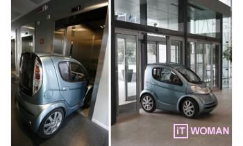 Самый маленький автомобиль может поместиться в лифт!