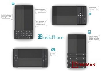 Elastic Phone - первый телефон со скользящей клавиатурой