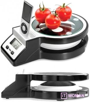 Кухонные весы с iPod док-станцией