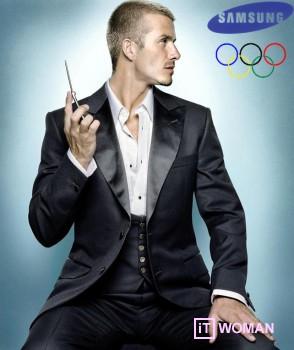 Дэвид Бекхэм станет официальным представителем Samsung на Олимпийских играх 2012 года