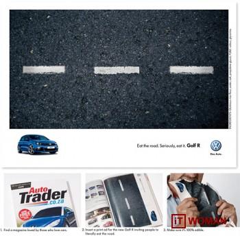 Съедобная реклама от Volkswagen