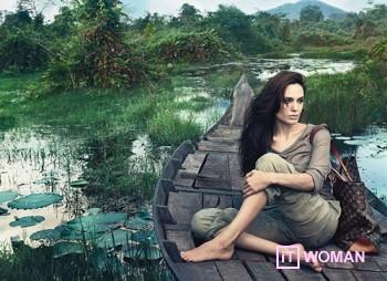 Анджелина Джоли в рекламе Louis Vuitton