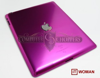 Розовый iРad2 с бриллиантами