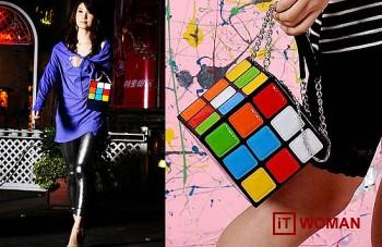 Сумочка в виде кубика-рубика