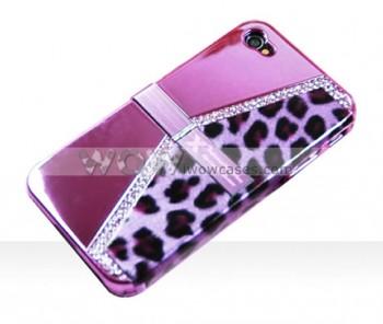 Леопардовый чехол для iPhone 4 со стразами