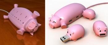 Поросячий USB-хаб