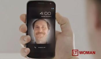 Samsung Galaxy Nexus с уникальной функцией блокировки при помощи лица