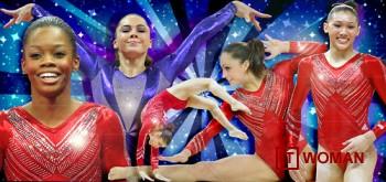Американская сборная по гимнастике в кристаллах Swarovski