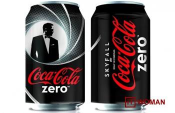Джеймс Бонд на баночках Coca-Cola
