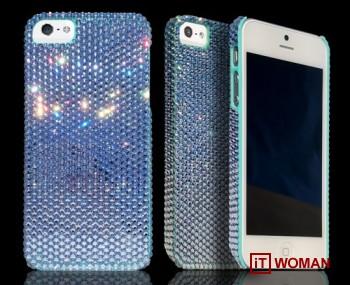 Яркие чехлы для iPhone 5 с кристаллами Swarovski