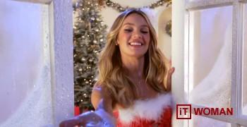 Модели Victoria`s Secret в новогоднем видео!