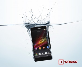 Sony Xperia Z - водонепроницаемый смартфон. Бульк!