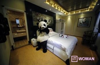 Отель панды открывается в Китае