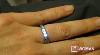 Обручальное кольцо со светодиодами