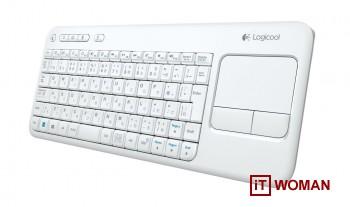 Беспроводная клавиатура Logitech в белом цвете