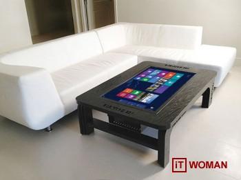 Журнальный столик со встроенным планшетом