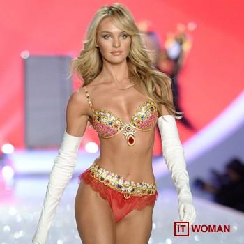 Кэндис Свэйнпол в бюстгальтере Victoria's Secret за 10 млн. долларов