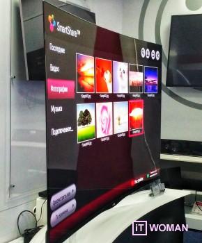 Тестирование вогнутого телевизора LG Curved OLED TV